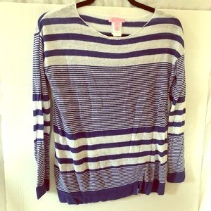 Lily Pulitzer blue and white striped sweater sz XS